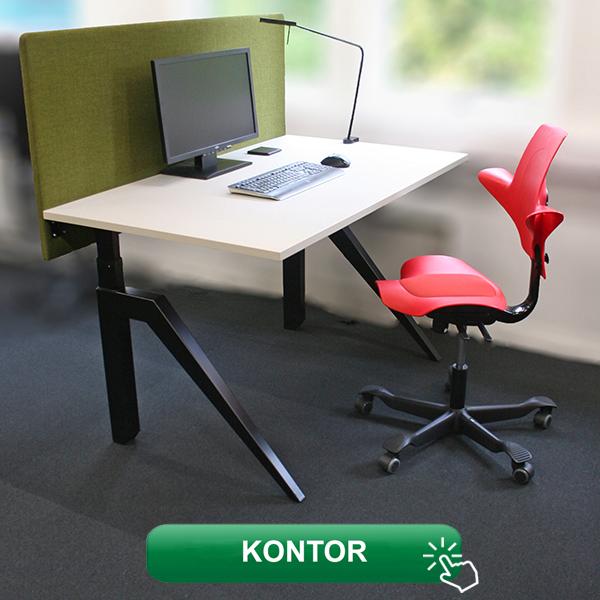 Kontormøbler skrivebord, kontorstoler, møterom